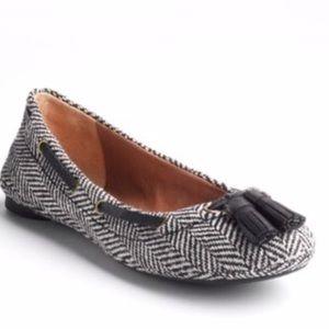 Lucky Brand Edison Tassel Tweed Flats Size 8